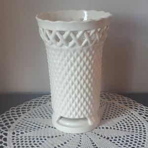 Vintage Made in Japan Diamond Point Ceramic Vase